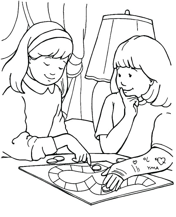 600x740 Helping Others Coloring Pages Showing Love Share Your Burden