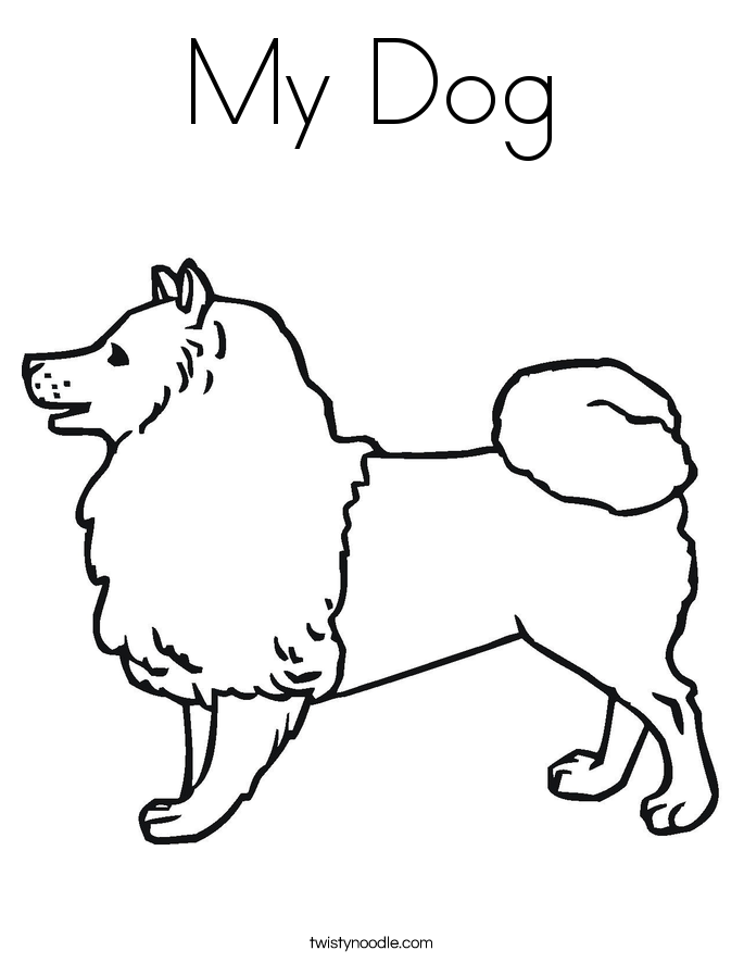 685x886 My Dog Coloring Page