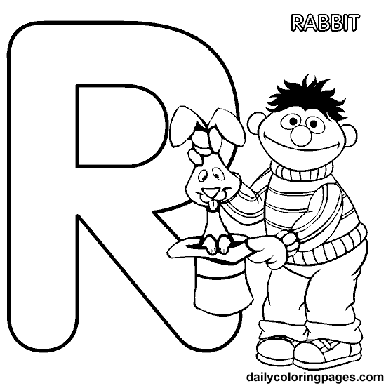 550x550 Sesame Street Alphabet Coloring Book Pages Sesame