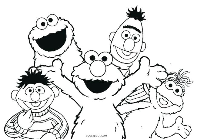 650x458 Sesame Street Coloring Pages Sesame Street Birthday Coloring Pages