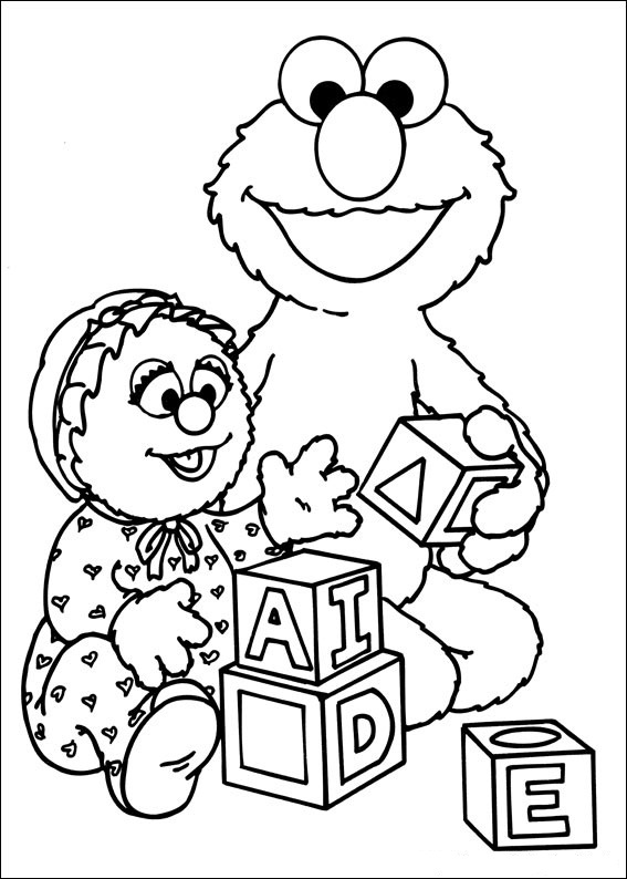 567x794 Free Printable Sesame Street Coloring Pages For Kids