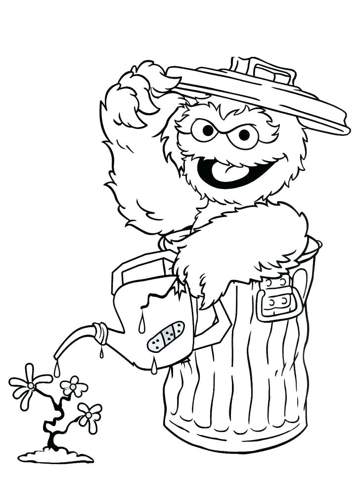 728x967 Marvellous Sesame Street Birthday Coloring Pages Free Sesame