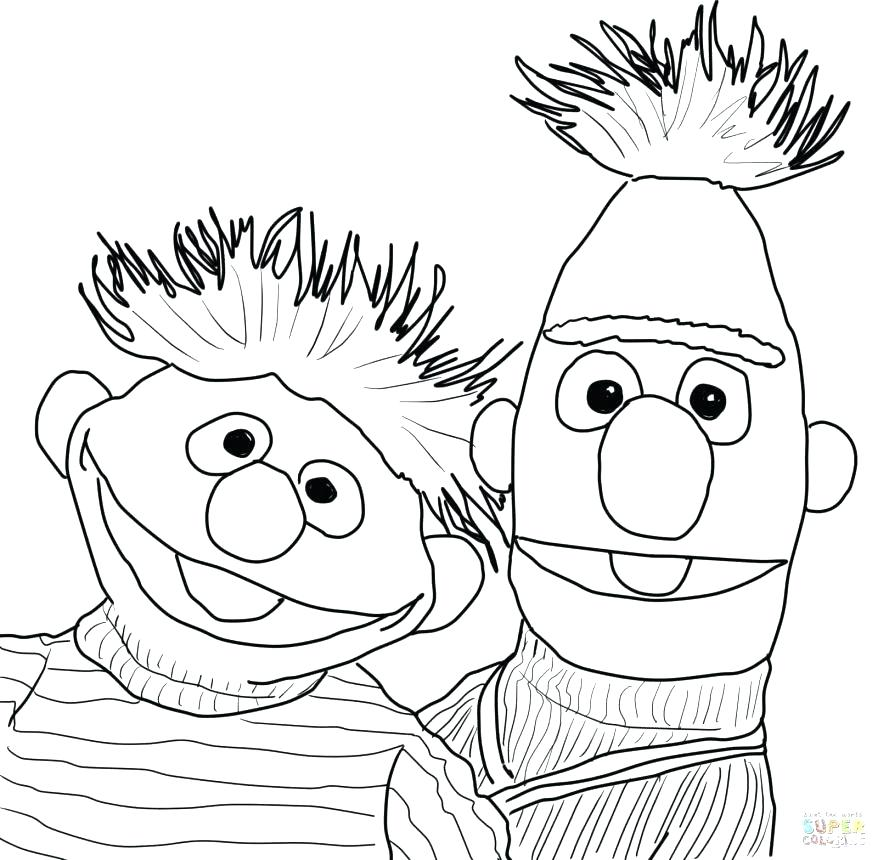 878x860 Sesame Street Birthday Coloring Pages Picture Of Sesame Street