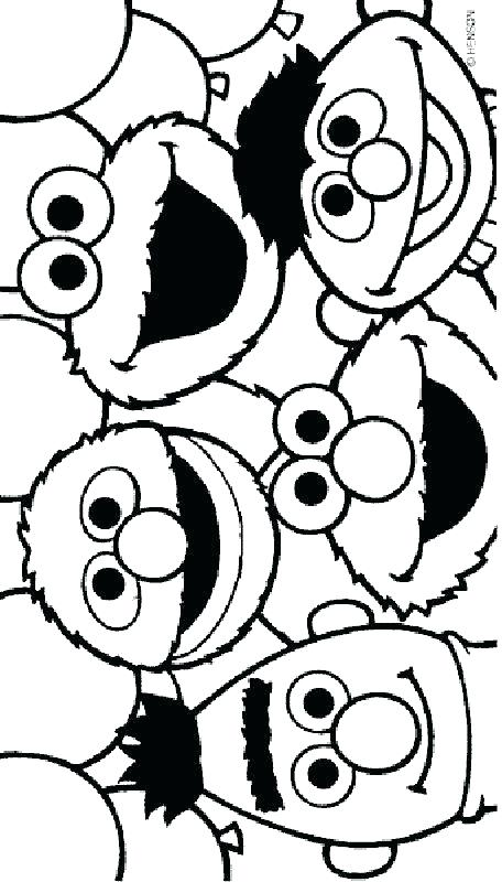 456x800 Sesame Street Birthday Coloring Pages