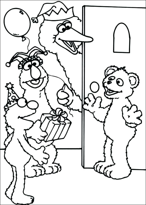 604x847 Sesame Street Coloring Books