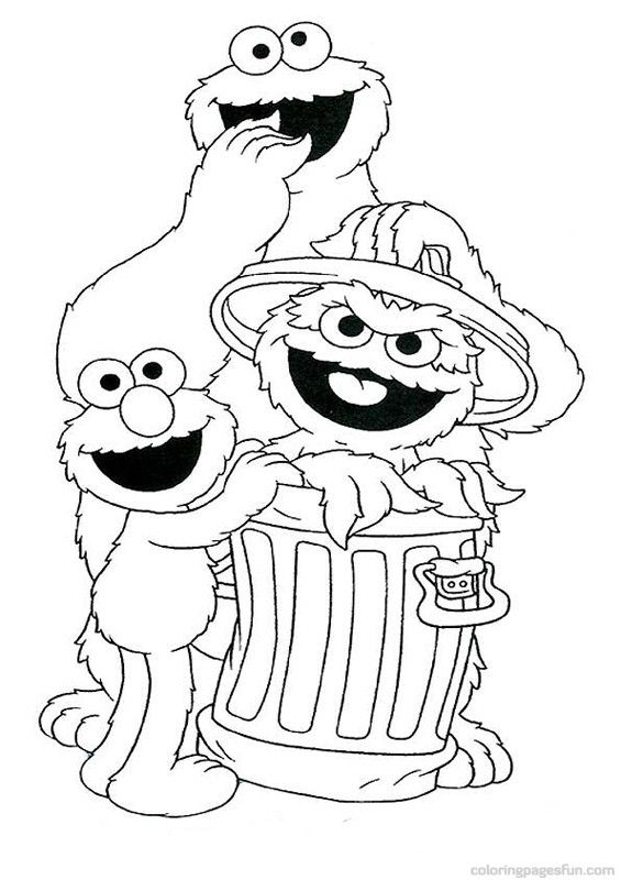 565x800 Sesame Street Coloring Pages