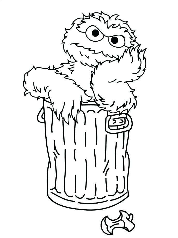 687x920 Sesame Street Coloring Pages Birthday