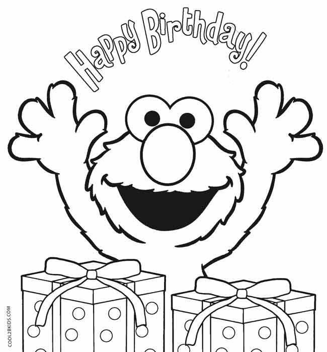 650x699 Elmo Birthday Coloring Pages Sesame Street Birthday
