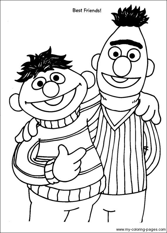 569x796 Printable Sesame Street Characters Coloring Pages
