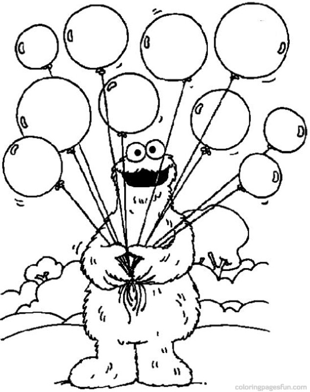 634x800 Sesame Street Birthday Coloring Pages