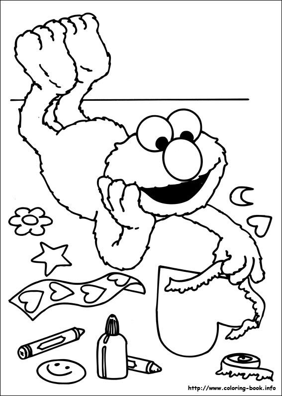 567x794 Sesame Street Coloring Pages