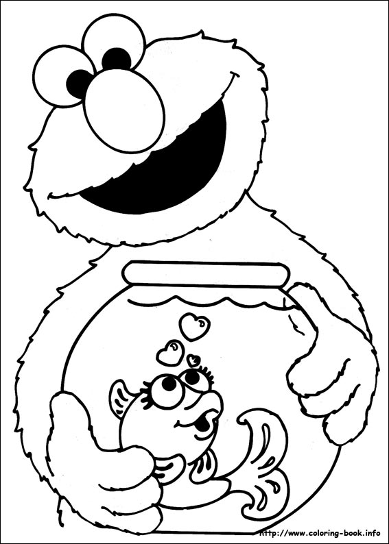 567x794 Sesame Street Coloring Picture