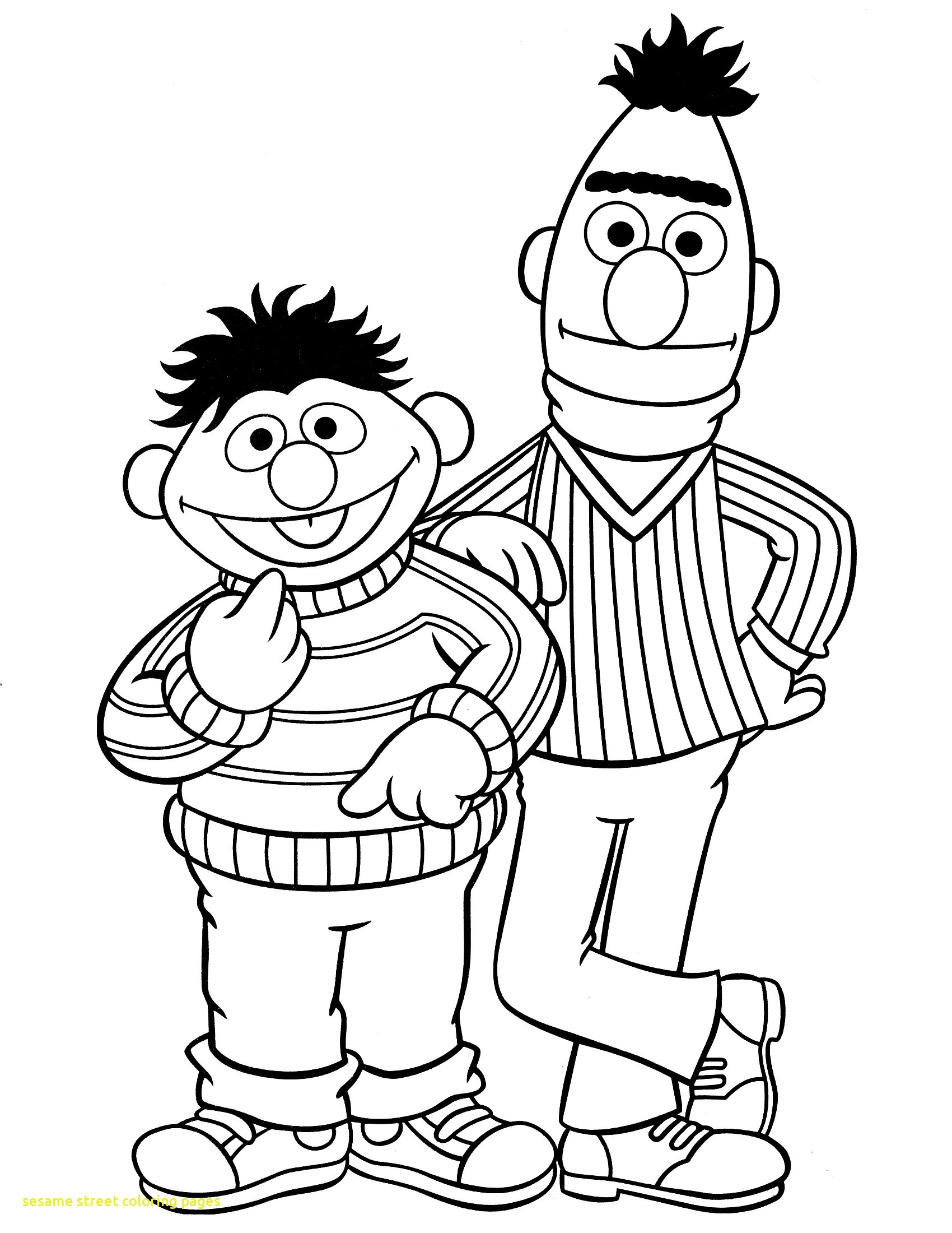 1700x2200 Simple Sesame Street Coloring Sheets Printable Character Pages