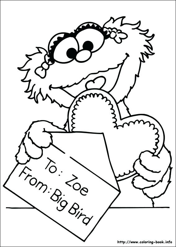 567x794 Street Coloring Picture Sesame Street Coloring Picture Sesame