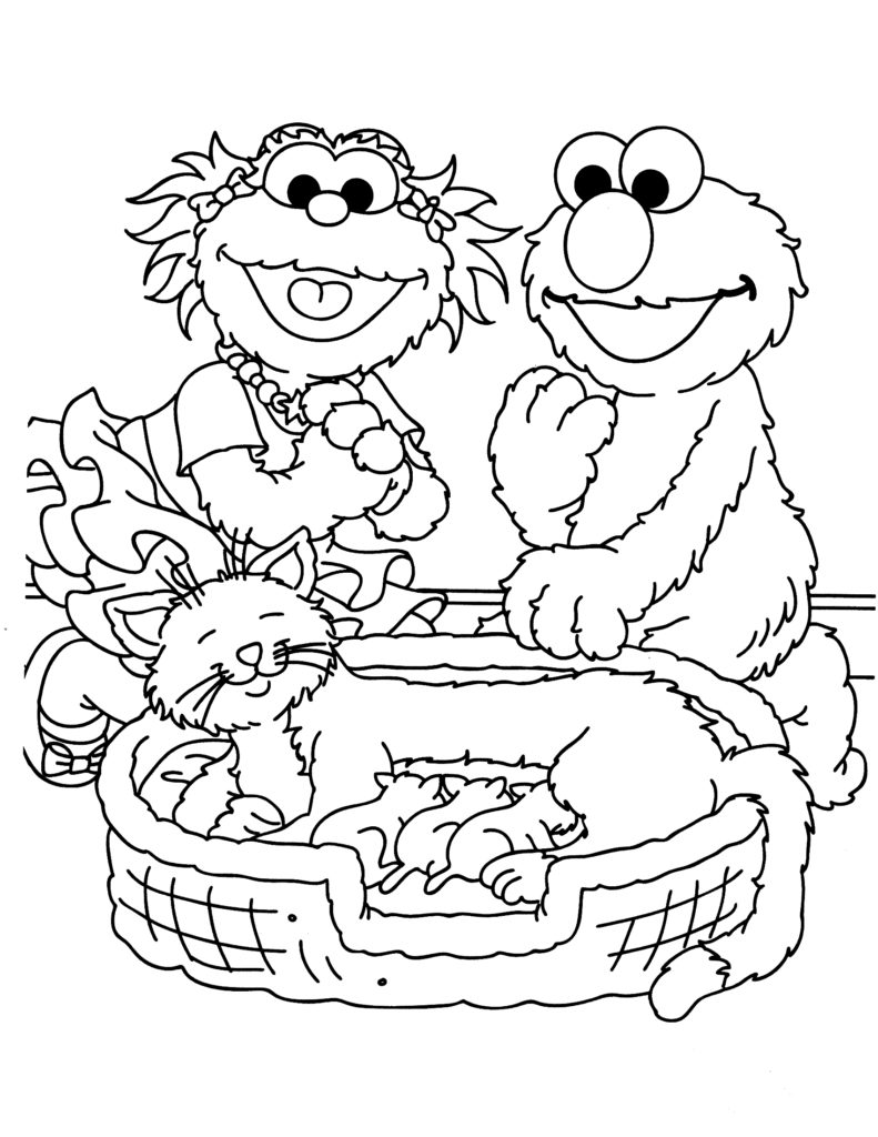 791x1024 Sesame Street Coloring Pages Scott Fay Free Printable Sesame