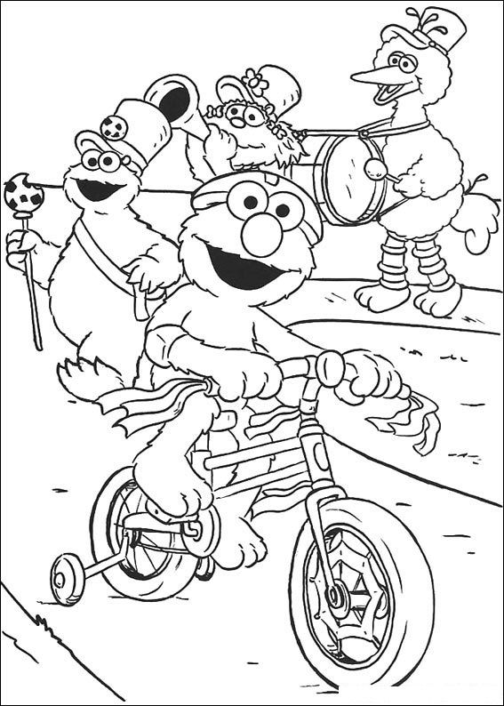 Sesame Street Gang Coloring Pages
