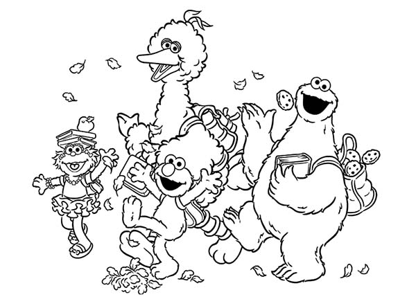 600x429 Contemporary Design Sesame Street Coloring Pages Cookie Monster