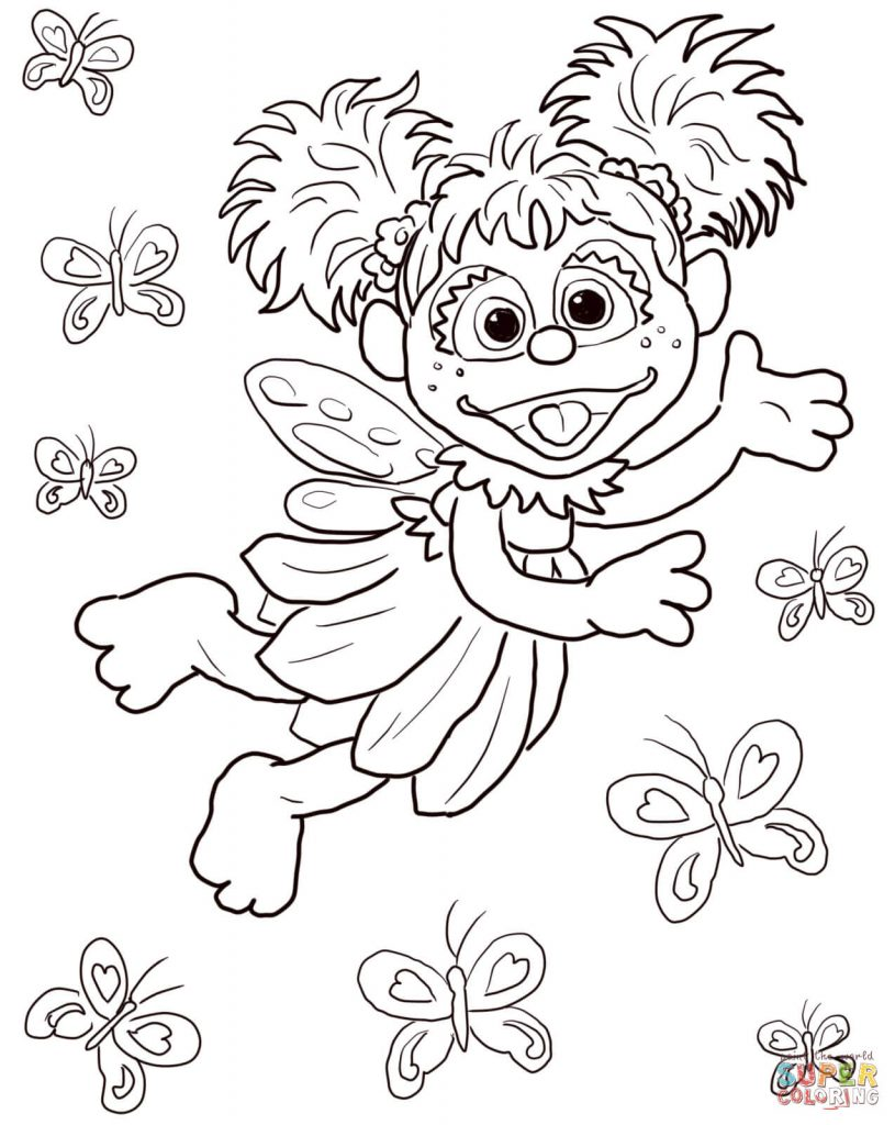 815x1024 Free Printable Sesame Street Abby Cadabby Coloring Pages For Kids