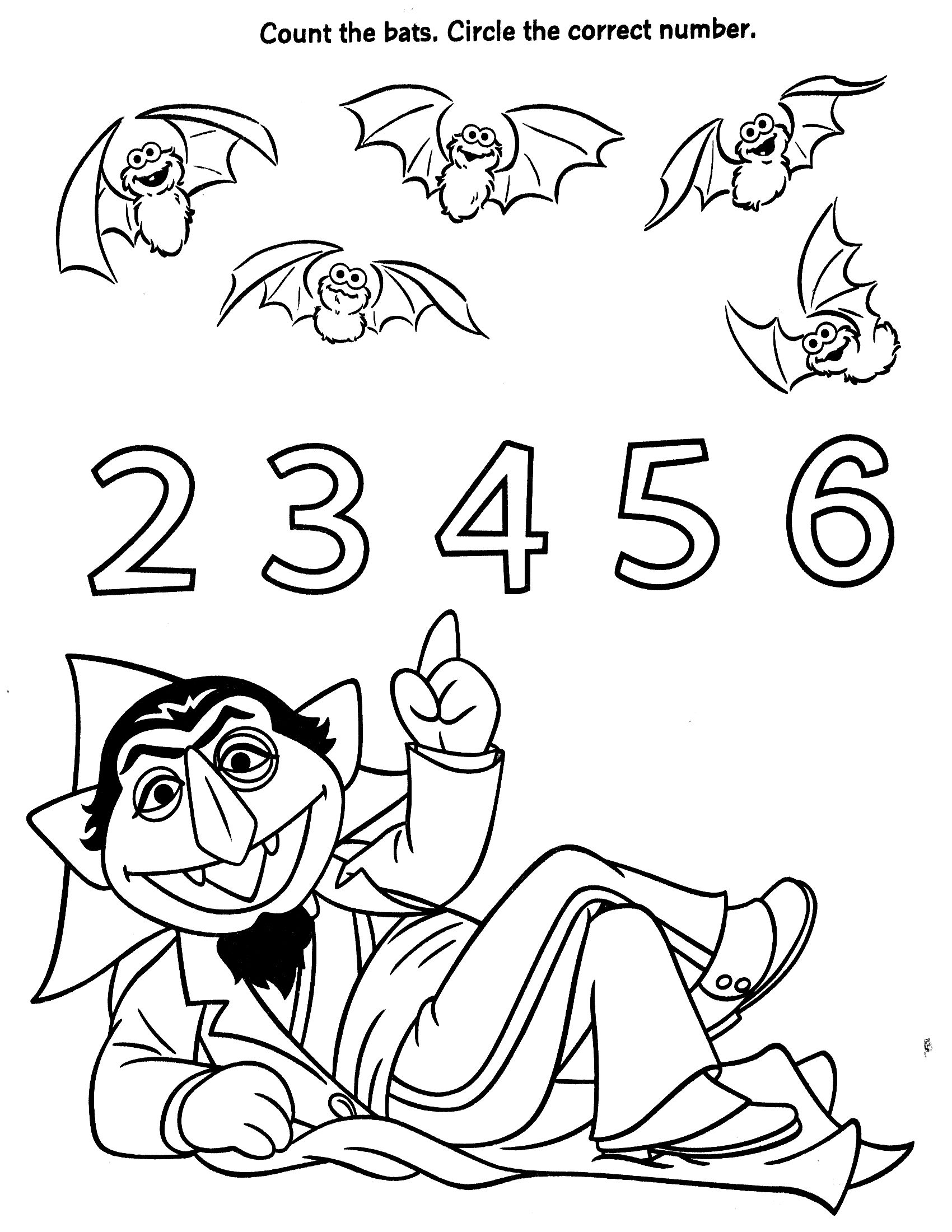 1700x2200 Hurry Sesame Street Number Coloring Pages Bing Images Elmo World S