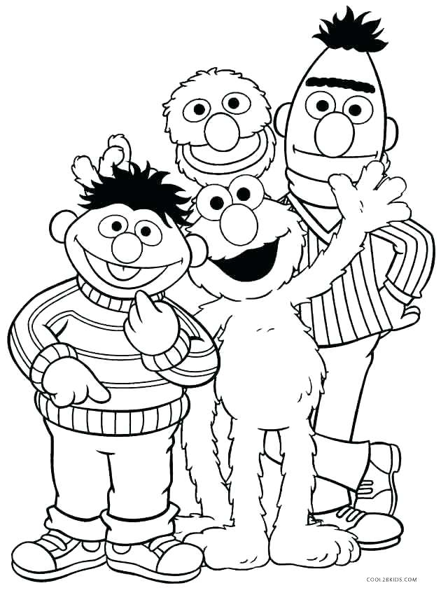 640x850 Printable Sesame Street Characters Coloring Pages Sesame Street