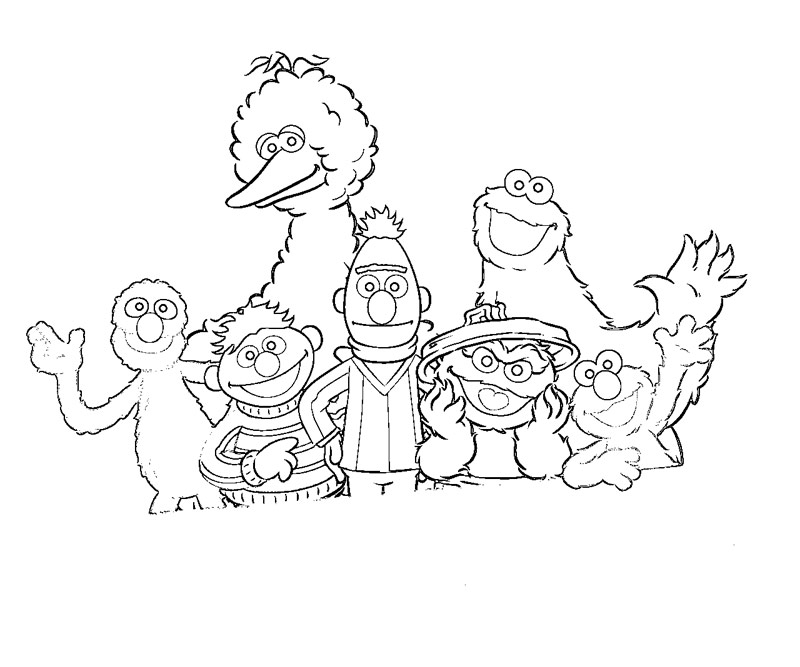 800x667 Sesame Street Characters Coloring Pages