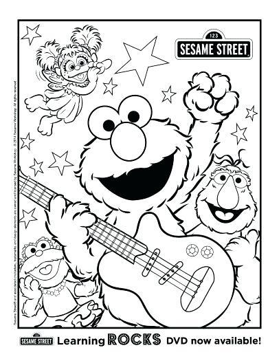 406x525 Sesame Street Coloring Page Free Printable Sesame Street Coloring