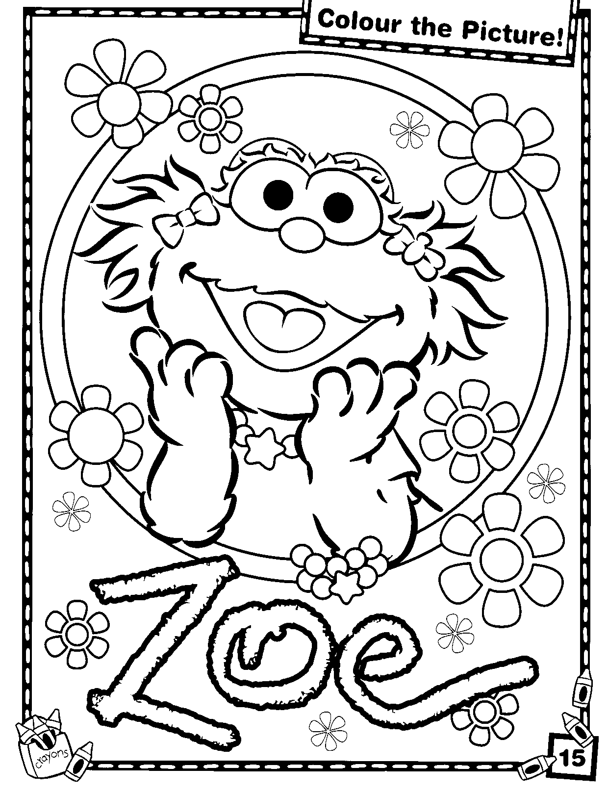 1240x1615 Sesame Street Coloring Pages