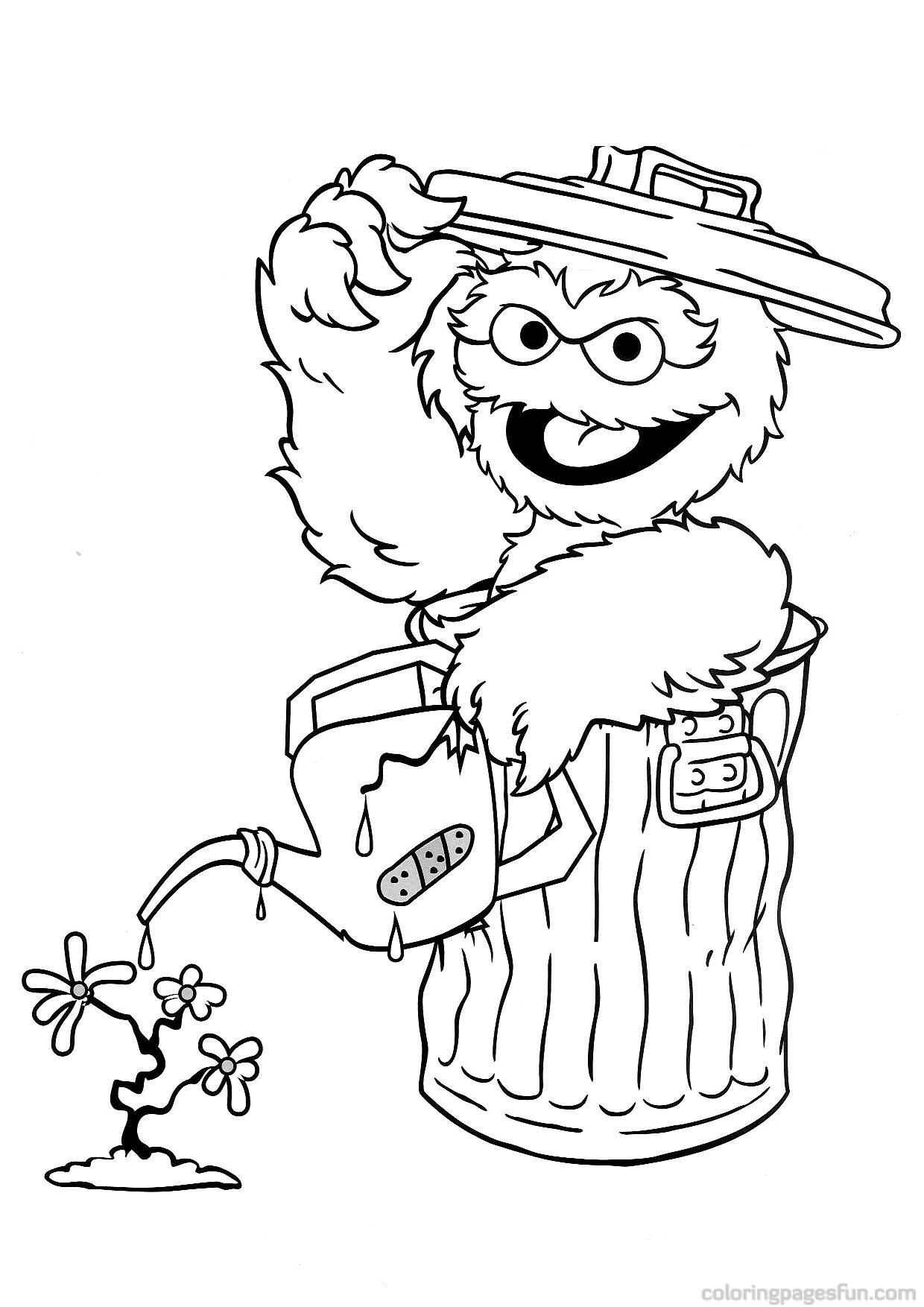 1240x1754 Sesame Street Coloring Pages