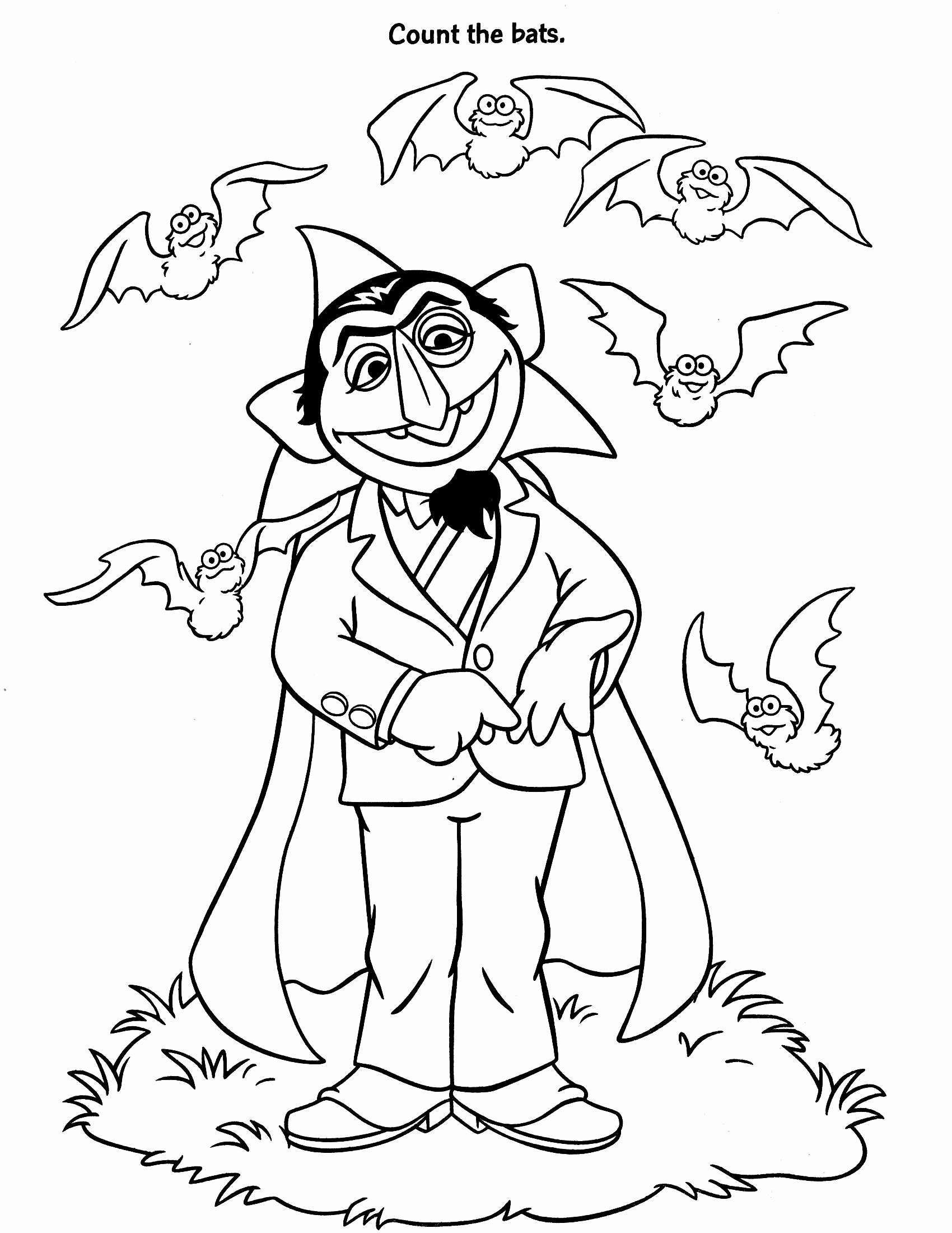 1700x2200 Sesame Street Coloring Pages Count Google Search Sesame Street