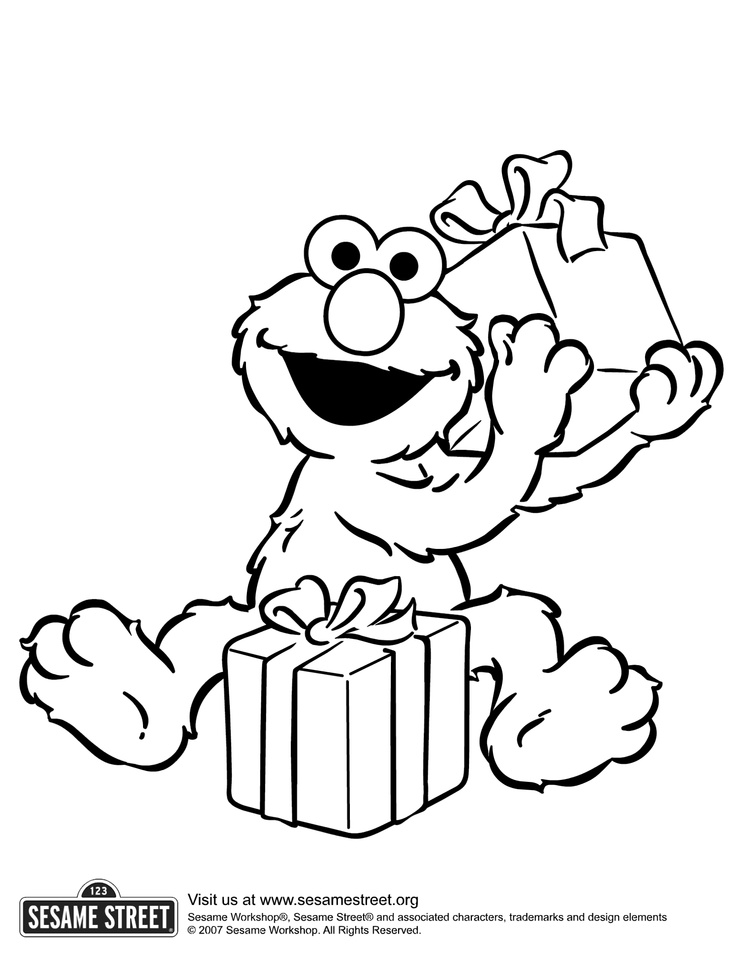 736x953 Sesame Street Elmo Birthday Coloring Pages