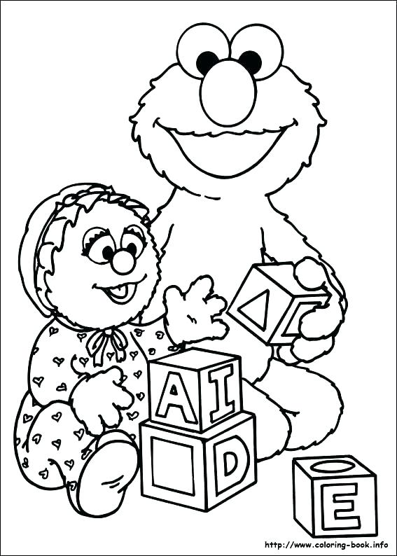 567x794 Free Sesame Street Coloring Pages