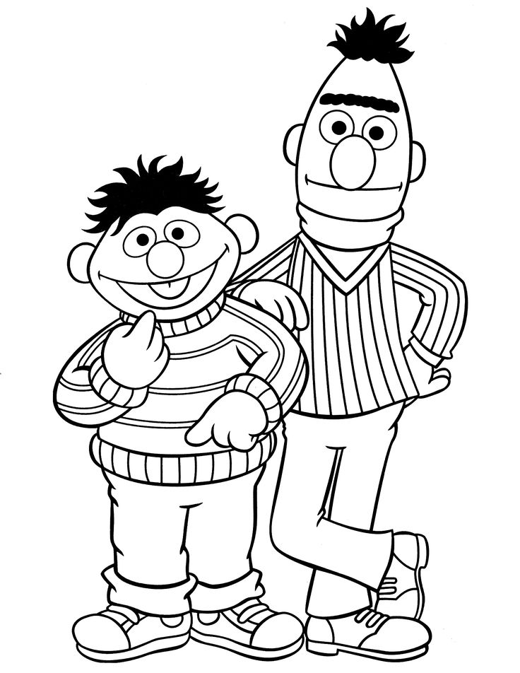 736x952 Best Sesame Street Coloring Pages Images On Sesame