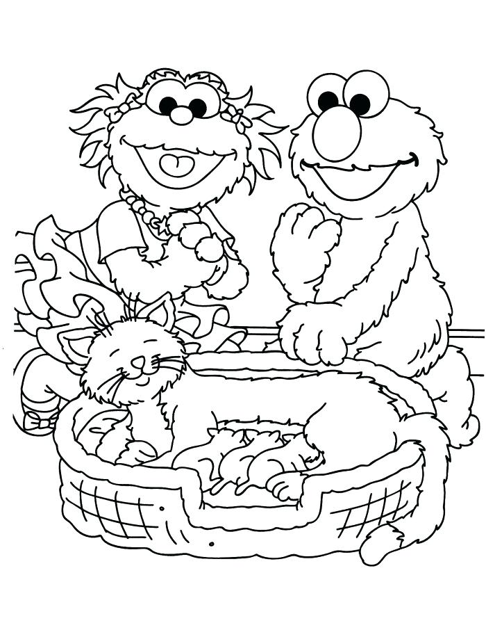 700x906 Sesame Street Coloring Pages