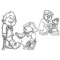 230x230 Top Free Printable Doctor Coloring Pages Online