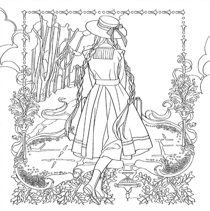 736x742 Anne Of Green Gables Coloring Pages