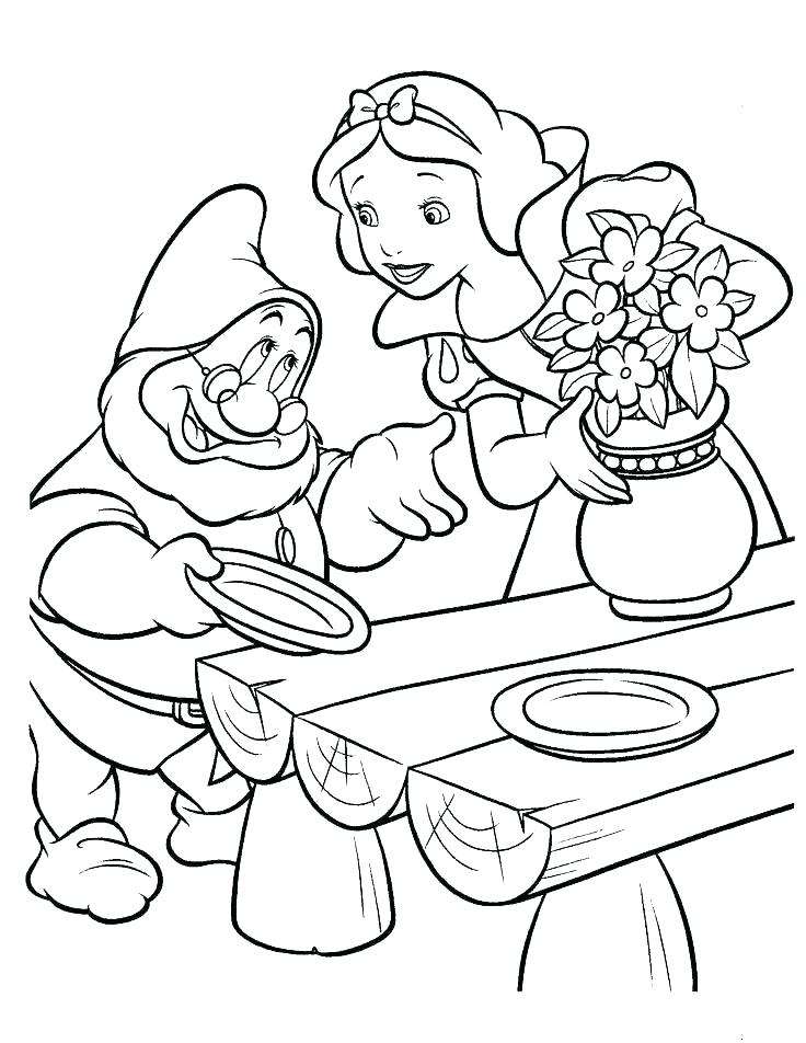 736x952 Snow White And The Seven Dwarfs Coloring Pages Dwarfs Coloring