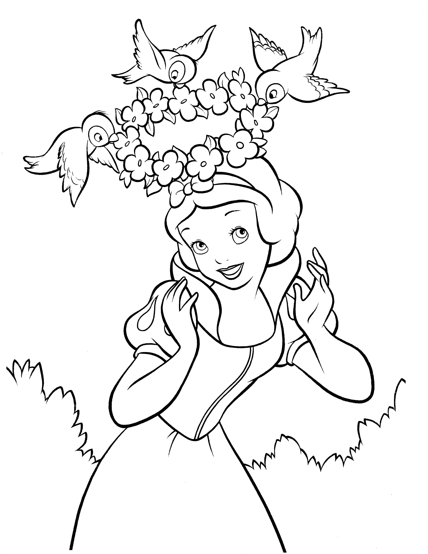 1700x2200 snow white and the seven dwarfs coloring pages finest disney snow