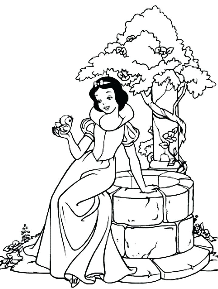 718x950 Dwarfs Coloring Pages Snow White And The Coloring Sheets