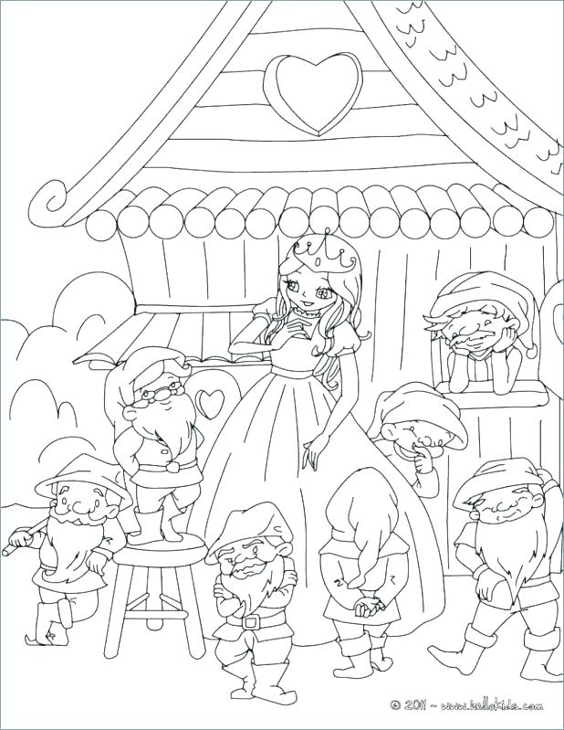 618x799 Dwarfs Coloring Pages Snow White And The Dwarfs Colouring