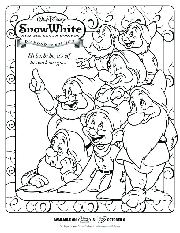 588x760 Dwarfs Coloring Pages Snow White And The Seven Dwarfs Coloring