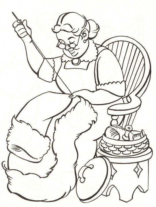 541x720 Mrs Claus Colouring In Cartoon Coloring Pages Coloring Pages