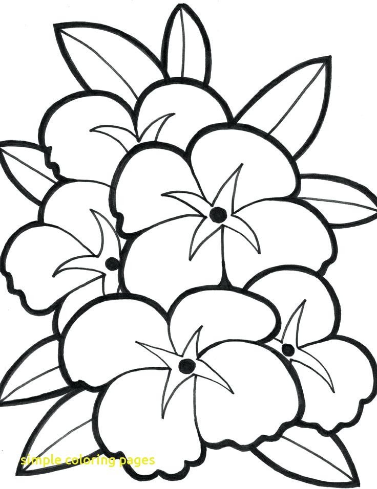 736x956 Simple Coloring Pages With Easy Flower Coloring Pages Simple