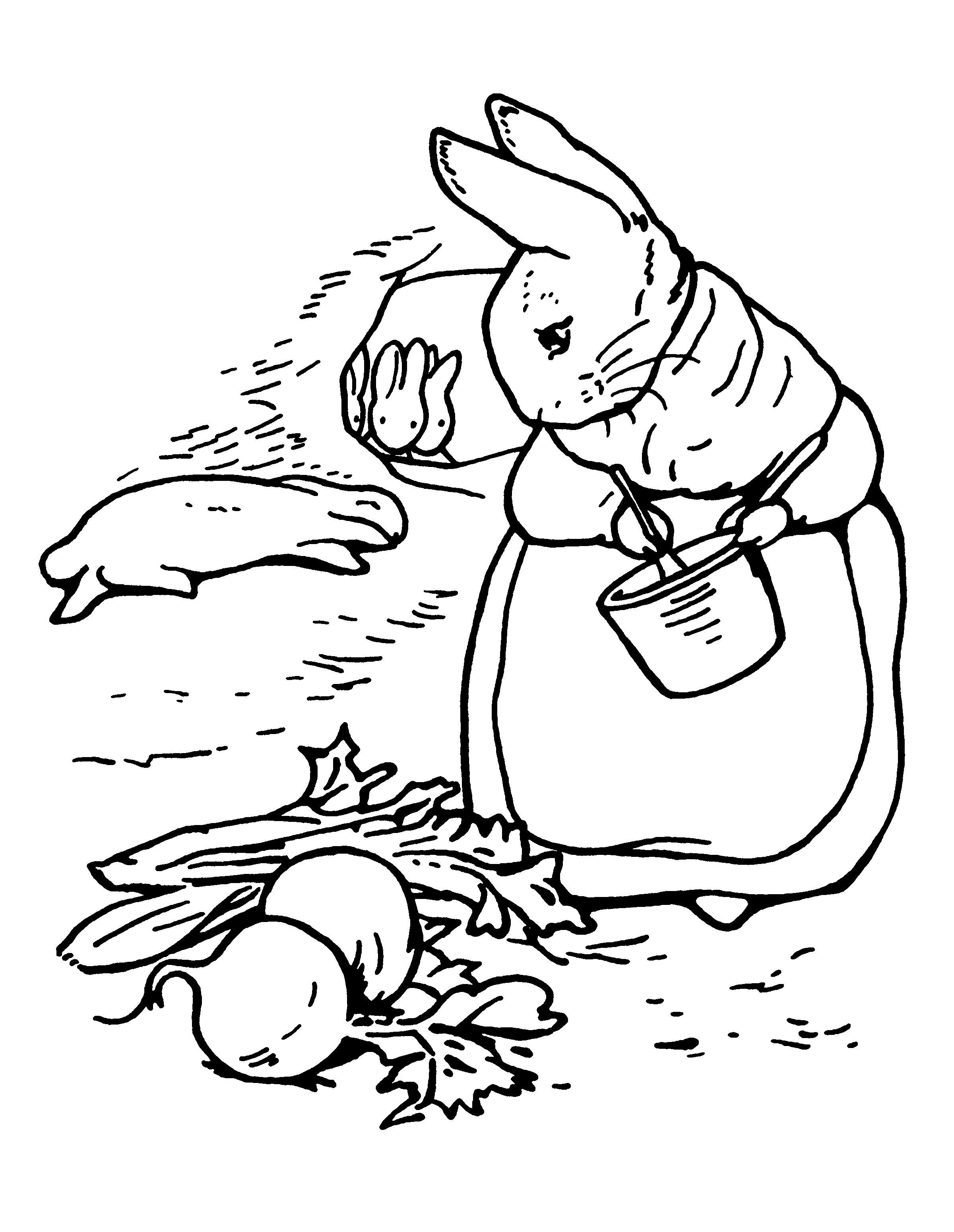 2400x3100 Beatrix Potter Coloring Pages