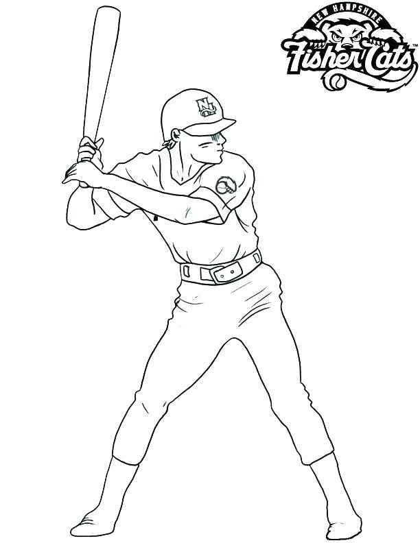 612x792 Coloring Pages Of Baseball Baseball Coloring Pages Baseball