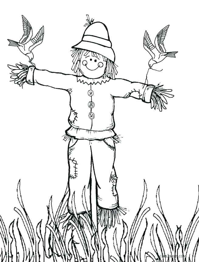 655x864 Scarecrow Coloring Page Scarecrow Coloring Pages Scarecrow