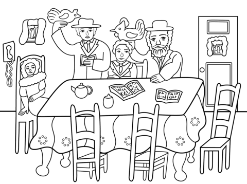 480x358 Shavuot Jewish Holiday Coloring Pages