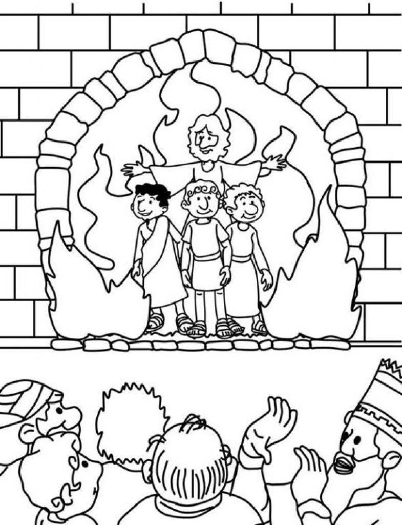 785x1024 Shadrach Meshach And Abednego Coloring Page Remarkable Noticeable