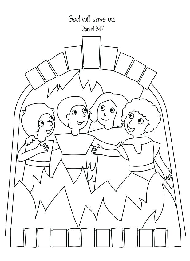Shadrach Meshach And Abednego Coloring Page At Getdrawings Com