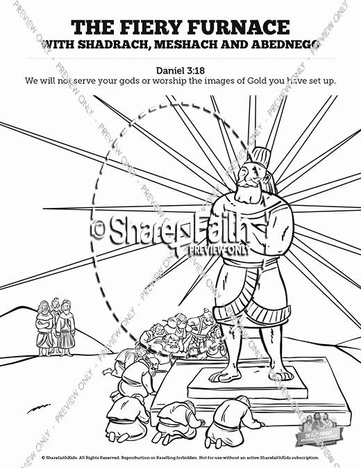 520x673 Shadrach Meshach And Abednego Coloring Page Stock The Fiery