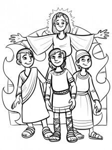 225x300 Shadrach Meshach And Abednego Coloring Sheet Sunday School